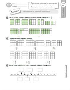 CM1: EVALUATION Décomposer et encadrer les fractions ...