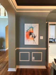 My fish painting sent express to the US and now hanging on my Texan collector's dinning wall. I assume they'll cover the eyes when eating fish near him.) Sold, prints available. Abstract Canvas Art, Realism Art, Photorealism, Australian Artists, Original Art, Artsy, Walls, Rooms, Fish