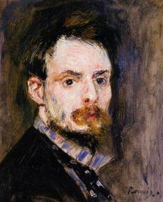 Self-Portrait, c.1875 - Pierre-Auguste Renoir [WSJ 11/2/17]
