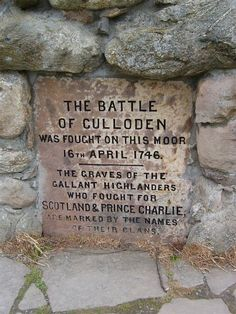 """The Battle Of Culloden was fought on this moor, April The graves of the gallant Highlanders who fought for Scotland & Prince Charlie, are marked by the names of their Clans"" Culloden is a tract of moorland in the county of Inverness, Scotland Edinburgh, Scotland History, Scotland Travel, Scotland Tourism, Scotland Trip, Scotland Castles, Highlanders, Outlander Book, Diana Gabaldon"