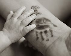 Awesome Handprint and Footprint Tattoo: Baby Handprint Tattoo Design For Men On Arm ~ Tattoo Design Inspiration