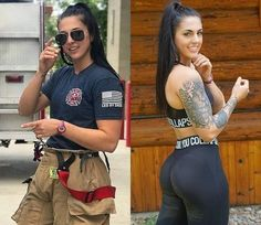 Working girls need to wear the uniform, and they don't look as beautiful as in casual outfit. Enjoy photos of hot working girls with and without uniform that will make your day. Sexy Women, Fit Women, Badass Women Fashion, Mädchen In Uniform, Hot Girls, Female Firefighter, Lady, Female Soldier, Military Women