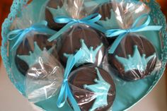 12 Tiffany Blue Prince Crown Chocolate Covered Oreo Cookie Favors Edible Prince Party Boy Baby Shower Prince Favor Edible Crown. $20.00, via Etsy.