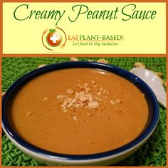 Used as a sauce over noodles, dipping sauce with wraps, or as a salad dressing, this simple creamy peanut sauce can be made low-fat by using PB2 or with natural peanut butter.
