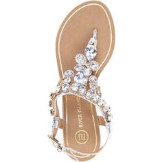 gem sandals - great for a dressy look