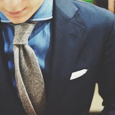 I love the softness of the tie. It makes him look professional, but approachable. -M