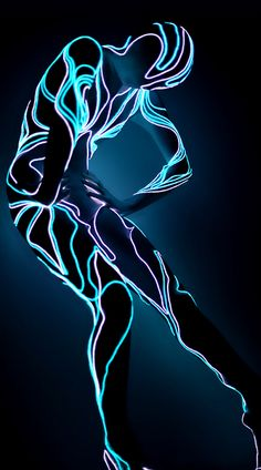 electroluminescent wire (EL wire) costume OMG - wire that lights up