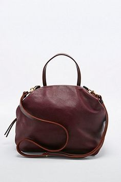 Shop Eleven Thirty Katie Leather Bag in Burgundy at Urban Outfitters today. Backpack Purse, Leather Backpack, Leather Bag, Urban Outfitters, Solid Brass, Purses And Bags, Burgundy, Backpacks, Collection