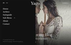 Yago - Simple WordPress Blog Theme. WordPress Blog Themes. $55.00