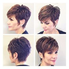 """835 Likes, 10 Comments - Short Hairstyles  💇👦 Pixie Cut (@nothingbutpixies) on Instagram: """"@reneemstylist.  @reneemstylist.  Client is @donnaemob  @donnaemob"""""""