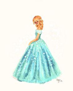 quinnasaurus-creations:Little Cinderella doodle