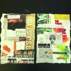 The front & back covers to my art / visual journal that I am making #collage