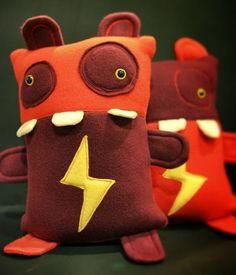 SHABAAM and SHABOOM! Defenders of Sleepy Town! Get them in the A Monater to Love Etsy shop