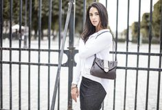 Jude by Léa Toni - Gris - Leather bag made in Italy