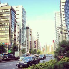 Looking west along Shinjuku-dori Avenue in Kojimachi