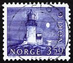 Norway, Lindesnes lighthouse stamp, 1655