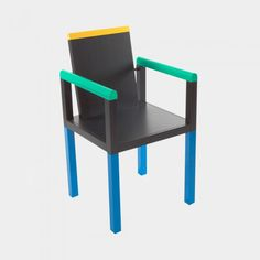 palace, chair designed by george sowden - memphis design current Design Furniture, Chair Design, Wood Furniture, Modern Furniture, Outdoor Furniture, Memphis Design, Memphis Furniture, Crate Desk, Nathalie Du Pasquier