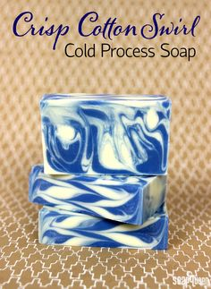 Back to Basics: Crisp Cotton Swirl Cold Process