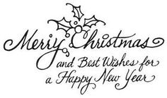 Cling Stamp - Merry Wishes from Stampendous