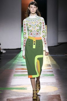 There are some crazy looks in the Peter Pilotto F15 RTW collection -- this one feels like crochet (or at least crochet-inspired!)
