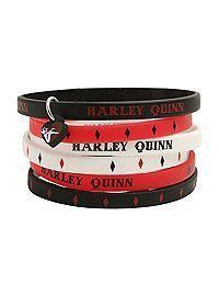 DC Comics Harley Quinn Rubber Bracelet 6 Pack