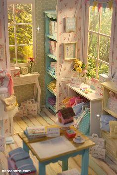 Nerea Pozo Art: ♥ Handmade miniature diorama CANDY COLOR BOUTIQUE Shop ♥