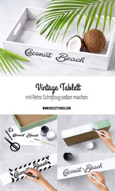 Tray yourself making DIY crate lettering retro vintage - Basket And Crate Craft Tutorials, Craft Projects, Retro Vintage, Diy Inspiration, Tumblr Rooms, Vintage Baskets, Arts And Crafts, Diy Crafts, Diy Tutorial