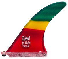 "Wetfins - Island Fin Design - 7"" Barracuda - Rasta, $109.95 (http://www.wetfins.com.au/surfboard-fins/longboard-fins/island-fin-design-7-barracuda-rasta/)"