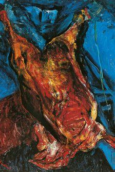 Chaïm Soutine, Carcasse de bœuf, vers 1925. Huile sur toile, 156,21 x 122,55 cm (avec cadre). Albright-Knox Art Gallery, Buffalo (New York)