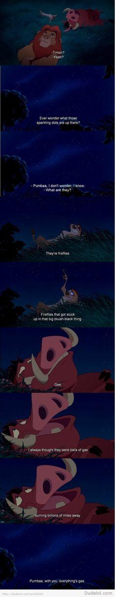 hahahaha so great i love timon and pumbaa :)
