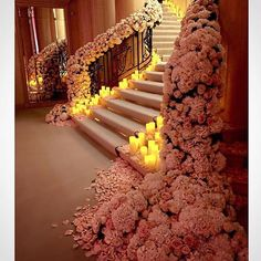 """""""Now that's one beautifully decorated staircase for your grand entrance. Who adores this stunning decoration by @jeffleatham? Double tap and tag a friend…"""""""