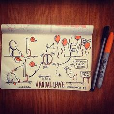 #TodaysDoodle No. 9 Annual Leave.   Flickr - Photo Sharing!