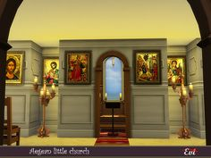 evi's Sims 4 Downloads Greek House, Byzantine Icons, Sims Community, Electronic Art, City Living, 13 Year Olds, White Walls, Santorini, Sims 4