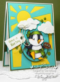 I made this card with the SugarPea Designs - Rice Rice Baby Stamp set. I used MFT Replenishments Card Stock in Blu Raspberry, Lemon Drop and Jellybean Green. I used the Sun Ray Cover-Up  Die-namics, the Oval and Pierced Oval STAX, Pierced Traditional Tags, Jumbo Cloud STAX, You Move Me Die-namics, Blueprints 1, 2, and 11.  I stamped with Jellybean Green Premium Dye Ink.  photo CTD286CCbird_edited-1RS1_zpsf84dd96f.jpg
