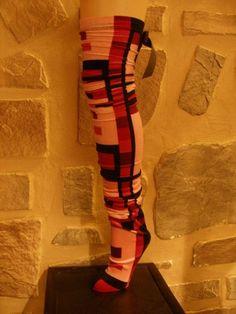Velveteen Retro Scrunchie Stocking Socks with by DimensionalVision, $23.00