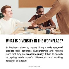 Definition of Diversity   In business, diversity means hiring a wide range of people from different backgrounds and making sure that they are treated equally. It is respecting and accepting each other's differences and working together as a team. It has many benefits for the company, employees, and society at large: Employees from different backgrounds can bring different perspectives to the business · Grade 12 Business Studies with Nonjabulo Tshabalala, South African Business Studies… What Is Diversity, Exam Papers, Business Studies, Information Graphics, Human Rights, Problem Solving, Definitions, A Team, Workplace