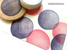 hand carved rubber stamp by talktothesun. shape + pattern stamp series for your diy crafts, scrapbooking, block printing. Design Crafts, Diy Crafts, Clay Stamps, Stamp Carving, Circle Pattern, Tampons, Ink Pads, Craft Items, Textiles