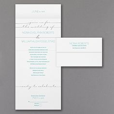 Typography Shines - Seal 'n Send Invitation