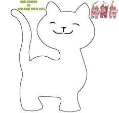 Chat doudou oou Mini chat porte-cles