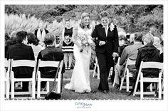 Recessional from wedding ceremony in the restorative gardens