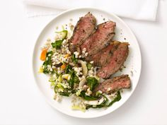 Grilled Steak With Barley Salad from #FNMag