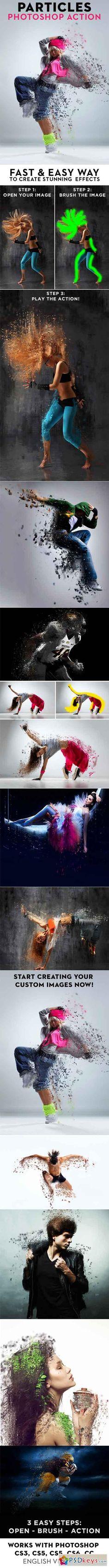 PARTICLES Photoshop Action 18069741