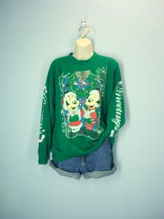 Mickey Mouse Ugly Christmas Sweatshirt / 80s by ShirleyBoutique