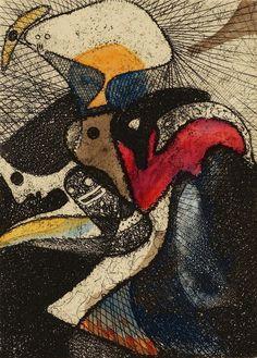 Max Ernst.  La lotería del jardín zoológico.  1951.