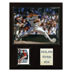 MLB 12 x 15 in. Nolan Ryan Texas Rangers Player Plaque - 1215RYANTEX