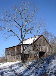 'winter barn' from moonmeadow's photostream on flickr