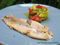 Receta Truchas maceradas en salsa de soja y jengibre, a la sal, para Molinillo - Petitchef