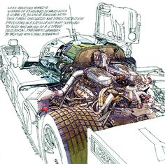 Original drawing by Peter Hutton. 2003 Bentley Speed 8 at the Goodwood Festival of Speed.