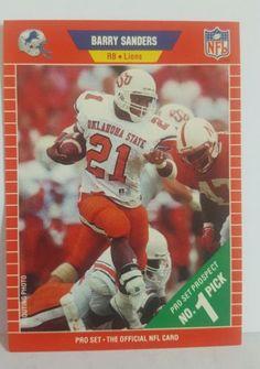Barry Sanders RC Card 1989 PRO SET VG EXCNT RB Detroit Lions NFL  HS