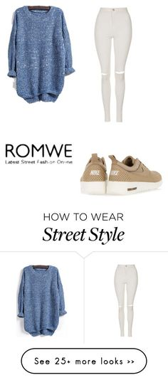 """Street Style-14"" by christina-303 on Polyvore featuring NIKE and Topshop"